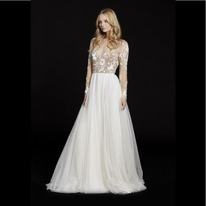 Hayley paige remmington a line wedding gown 6553